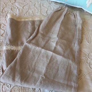 CP Shades Sundance Catalog linen lace long skirt S